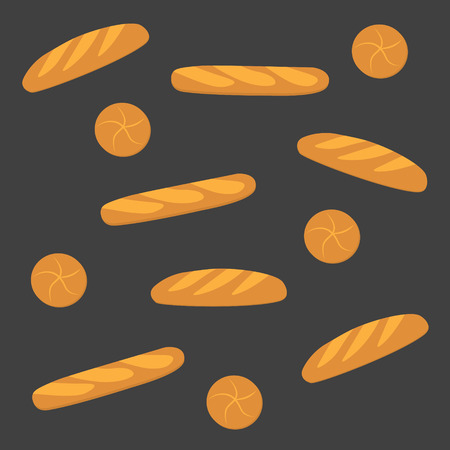 bread bakery background- vector illustration Illustration