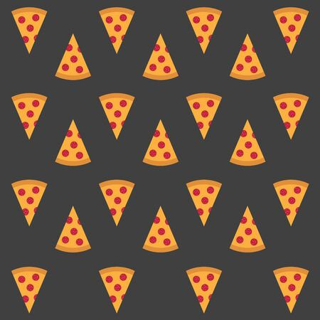 pizza background- vector illustration