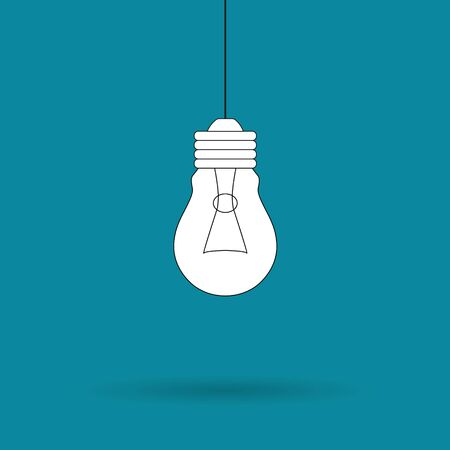 hanging light bulb icon- vector illustration Illustration
