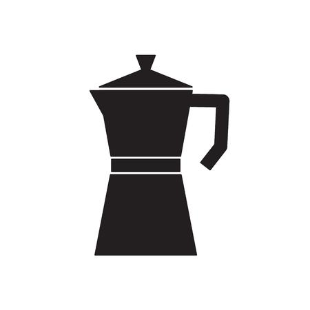 Coffee percolator, maker, moka icon- vector illustration