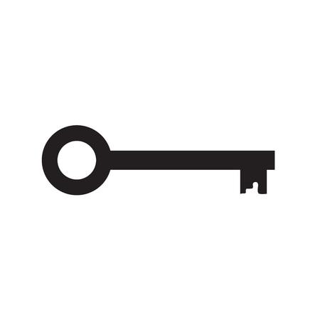 black key icon- vector illustration