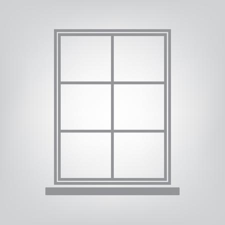 Window icon vector illustration. Illustration
