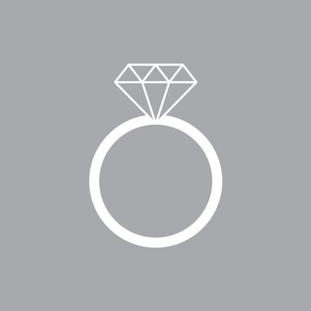 Diamond engagement ring icon- vector illustration