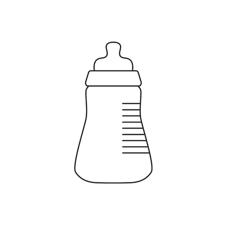 baby bottle with pacifier icon- vector illustration