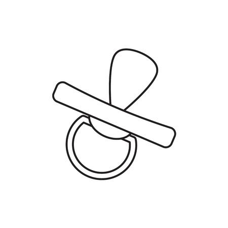 smoczek dla niemowląt, smoczek ikona ilustracja wektorowa Ilustracje wektorowe