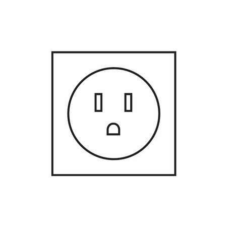 Amerikaanse stopcontact pictogram illustratie