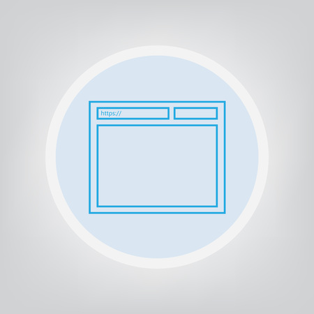 internet browser icon on gray background.