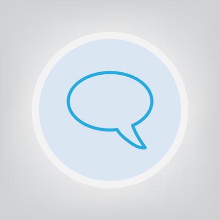 Speech bubble icon illustration Illustration