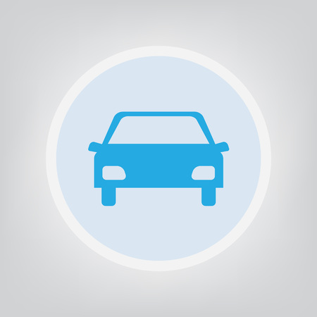 Car icon front view illustration