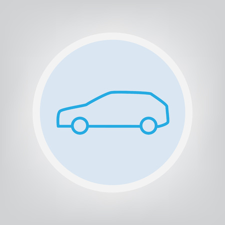 Car icon thin line  illustration Ilustrace