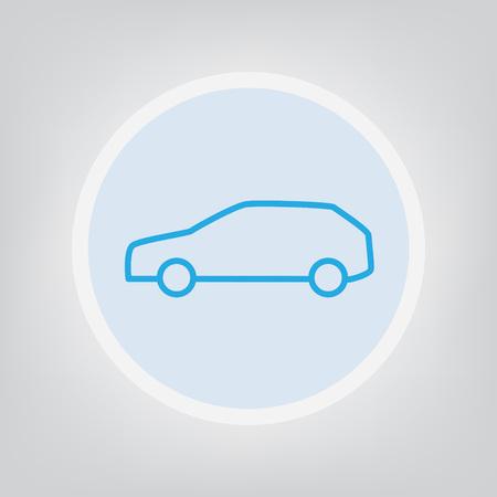 Car icon thin line  illustration Illustration