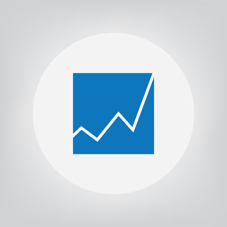 Business chart icon- vector illustration