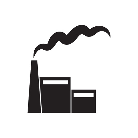 Factory or power plant icon- vector illustration