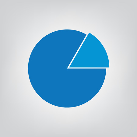 Pie business chart icon- vector illustration