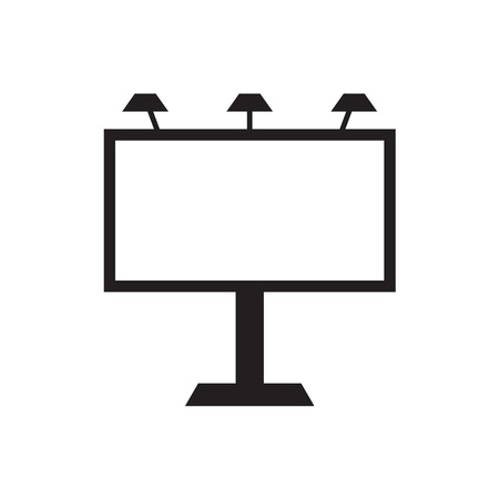 billboard icon- vector illustration