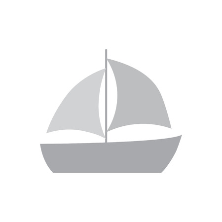 sailing boat icon- vector illustration Illustration