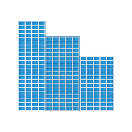 skyscrapers icon- vector illustration