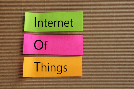Internet Of Things (IOT) text on colorful sticky notes