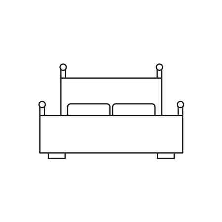 A double bed icon vector illustration Illustration