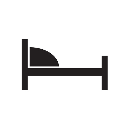 A hotel bed icon vector illustration