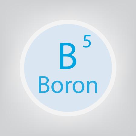 Boron B chemical element icon- vector illustration Illustration