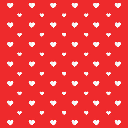 Valentines Day pattern, hearts on red background