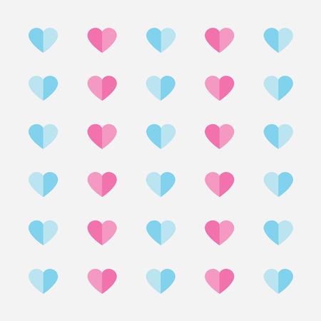 pastel color heart pattern- vector illustration Illustration