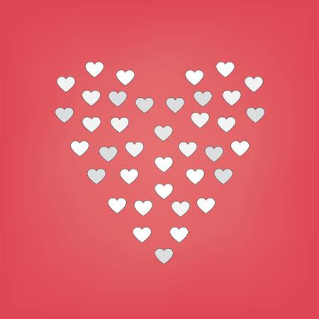 heart-shaped pattern- vector illustration Illustration
