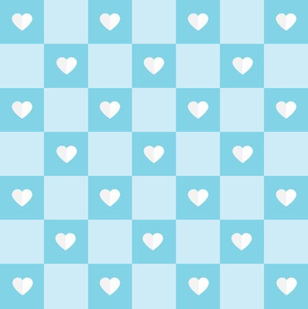 blue heart pattern- vector illustration