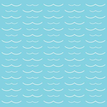 White waves background- vector illustration