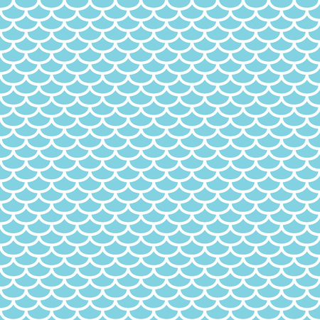 Blue and white fish scales pattern