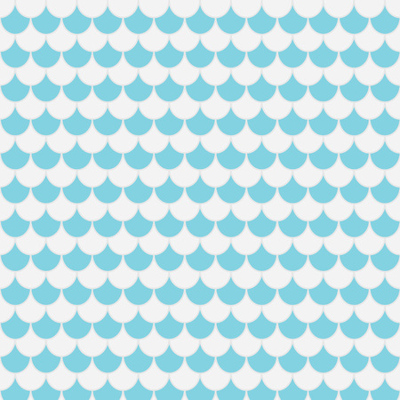 blue and gray pattern, fish scales - vector illustration Illustration
