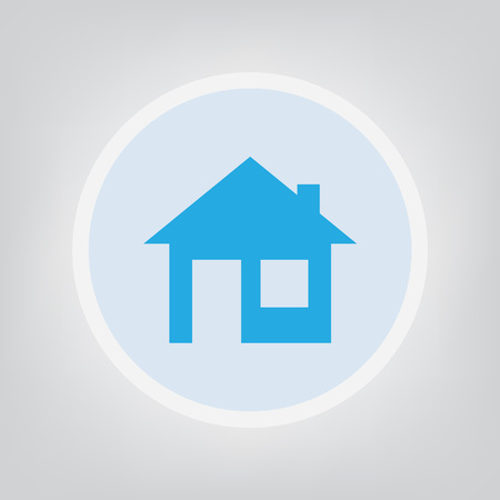 home icon on gray background - vector illustration