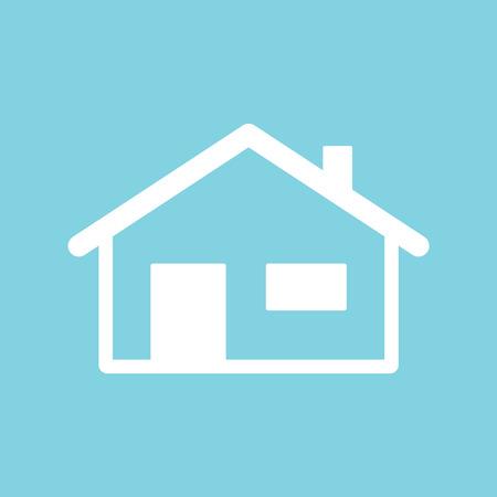 White home icon. Vector illustration