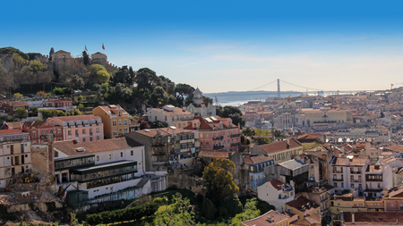 Panoramic view of Lisbon, Portugal Stock Photo