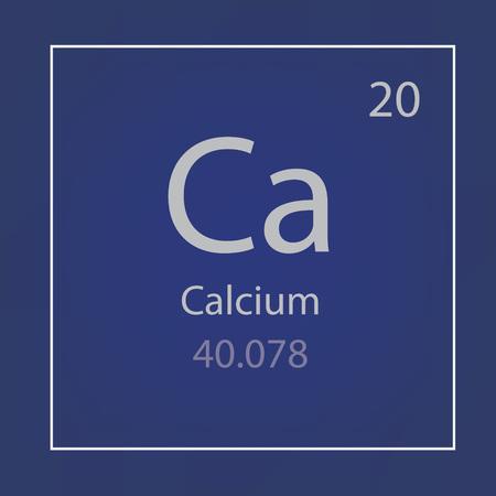 calcium Ca chemical element icon- vector illustration