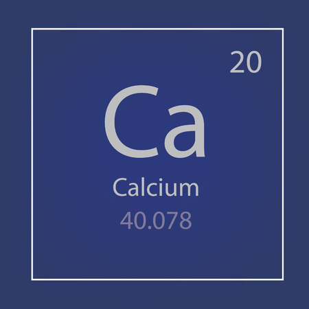 calcium Ca chemical element icon- vector illustration Reklamní fotografie - 96169319
