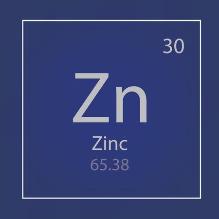 Ikonen-Vektorillustration des chemischen Elements des Zinks Zn