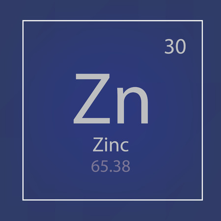 Zinc Zn chemical element icon vector illustration Vettoriali