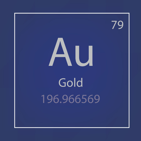 Gold Au chemical element icon- vector illustration