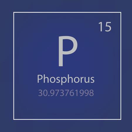 Phosphorus P an element icon vector illustration