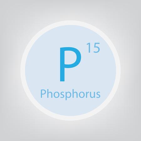Phosphore P, un tableau périodique des éléments élément icône illustration vectorielle