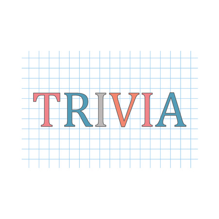 Trivia word written on checkered paper sheet- vector illustration Stock Illustratie