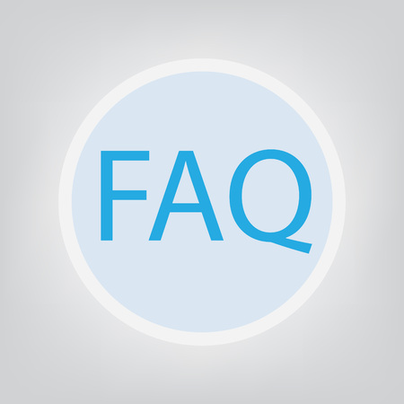FAQ (Frequently Asked Questions) acronym- vector illustration