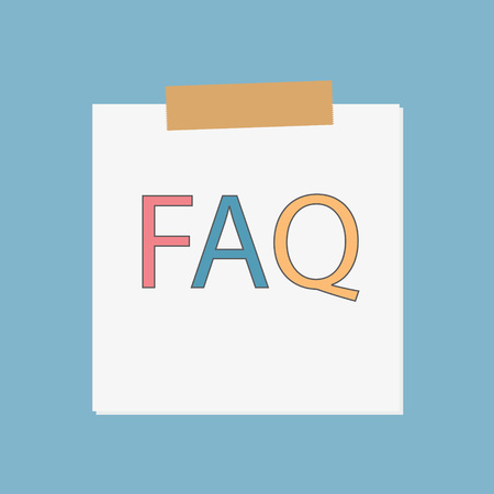 FAQ (Frequently Asked Questions) written in notebook paper- vector illustration Иллюстрация