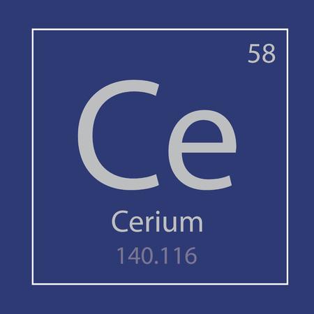 Cerium Ce chemical element icon- vector illustration