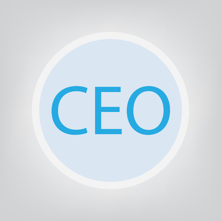 CEO (Chief Executive Officer) acronym- vector illustration