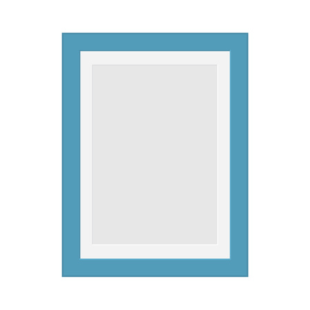 Blue photo frame illustration.