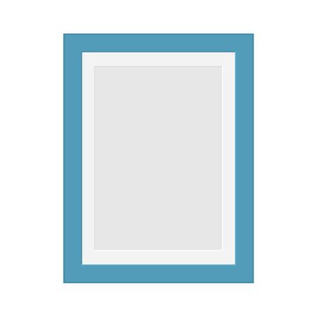 Blue photo frame illustration.