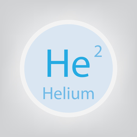 Helium He chemical element icon- vector illustration